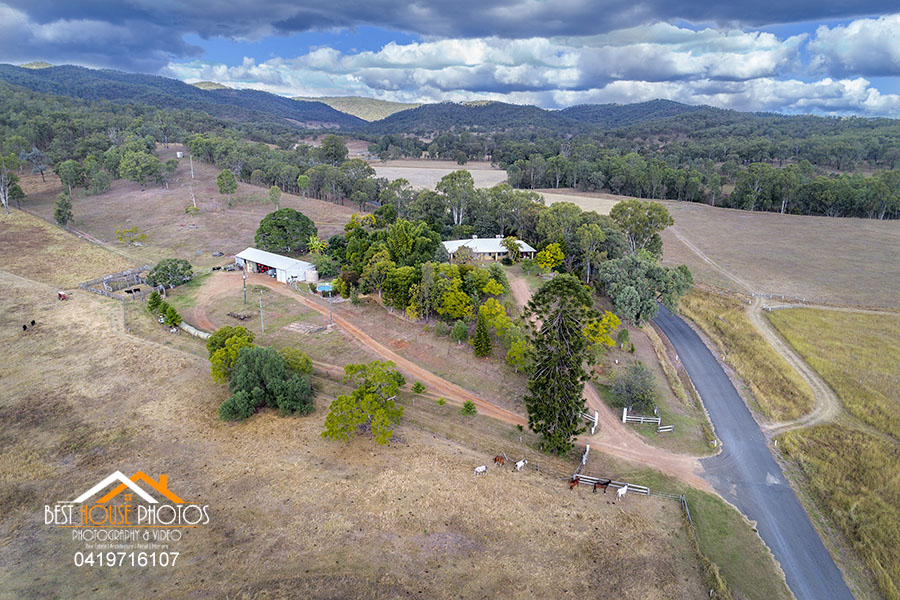 Rural property aerial photography